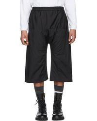 Raf Simons Black Elasticized Waistband Shorts