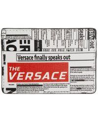Versace - Newspaper Print Cardholder - Lyst