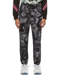 DIESEL Pantalon de survetement noir P-Calton-B
