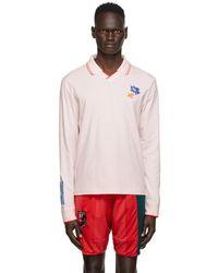 McQ ピンク フラワー エンブロイダリー ロング スリーブ ポロシャツ - マルチカラー