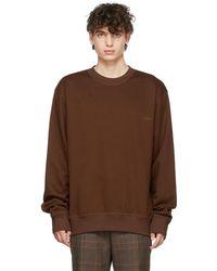 WOOYOUNGMI ブラウン ロゴ スウェットシャツ
