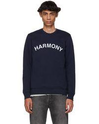 Harmony ネイビー Sael ロゴ スウェットシャツ - ブルー