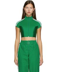 adidas Originals Green Paolina Russo Edition Crop Top