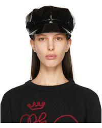 Dolce & Gabbana ブラック Baker Boy キャップ