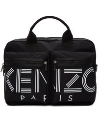 KENZO ブラック ロゴ ブリーフケース