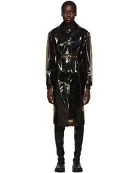 Versace ブラック トランスペアレント トレンチ コート