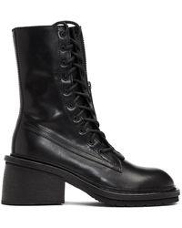 Ann Demeulemeester Black Block Heel Tucson Boots