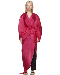 Pleats Please Issey Miyake Pink Madame T Stole Scarf