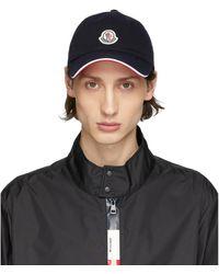 Moncler Navy Baretto Baseball Cap - Blue