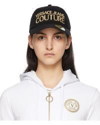Versace Jeans Couture ブラック Institutional ロゴ キャップ
