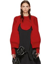 Comme des Garçons - Red Padded Sweater - Lyst