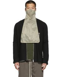 Rick Owens Grey Nylon Long Mask