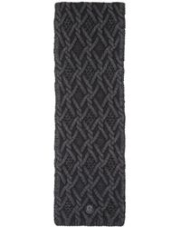 Moncler - Black Cable Knit Scarf - Lyst