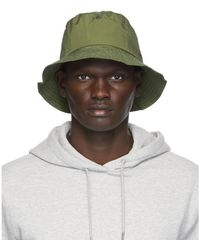 Norse Projects グリーン ナイロン バケット ハット