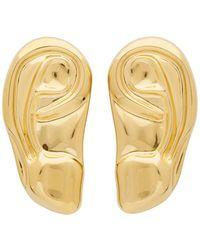 Gucci Gold Ear Brooch Set - Metallic