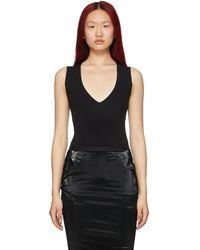 Rick Owens Lilies V-neck Bodysuit - Black