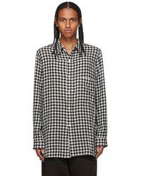 BED j.w. FORD ブラック & ホワイト チェック シャツ