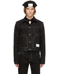 Daniel W. Fletcher Denim Contrast Stitch Jacket - Black