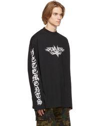 Vetements T-shirt à manches longues Gothic noir à logo