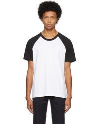 Courreges White & Black Logo T-shirt