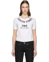 Dolce & Gabbana - White Fashion Sinner T-shirt - Lyst