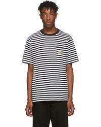 Carhartt WIP ブラック And ホワイト Haldon ポケット T シャツ