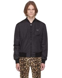 Dolce & Gabbana - ブラック ロゴ ボンバー ジャケット - Lyst