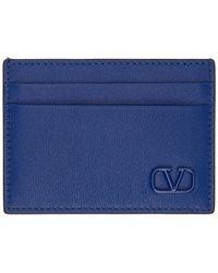 Valentino - ブルー Vlogo カード ケース - Lyst