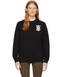 Burberry ブラック Dryde ロゴ スウェットシャツ