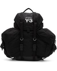 Y-3 - Black Utility Backpack - Lyst
