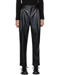 Alexander Wang Pantalon en latex extensible noir