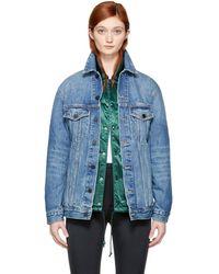Alexander Wang - Blue Oversized Denim Daze Jacket - Lyst