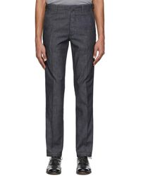 Brioni Navy Circeo Jeans - Blue