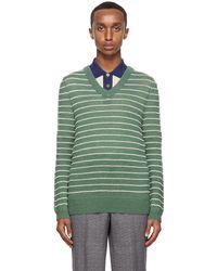 Gucci - グリーン & ホワイト アルパカ セーター - Lyst
