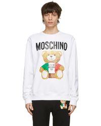 Moschino - ホワイト Italian Teddy Bear スウェットシャツ - Lyst
