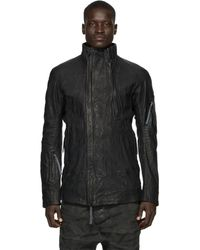 Boris Bidjan Saberi Black Horse Skin Jacket