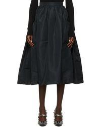 Alexander McQueen ブラック ギャザー スカート