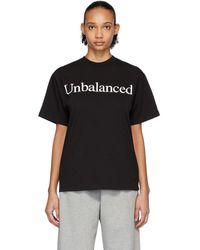 Aries New Balance Edition ブラック Unbalanced T シャツ
