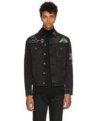 Valentino - Black Denim Video Game Jacket - Lyst