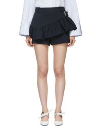 3.1 Phillip Lim | Black Ruffle Apron Shorts | Lyst