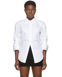 Alexander Wang ホワイト オーバーサイズ シンチ シャツ