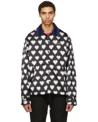 Facetasm - Black And White Heart Jacket - Lyst