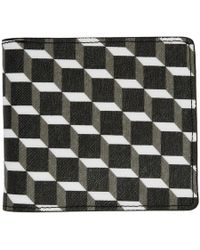 Pierre Hardy Black And White Canvas Cube Wallet