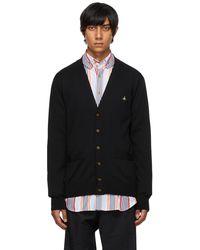Vivienne Westwood Cardigan Man noir en laine