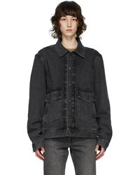 Levi's Black Denim Work Trucker Jacket