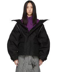 Balenciaga ブラック スイング パーカー ジャケット