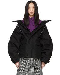 Balenciaga - Black Swing Parka Jacket - Lyst