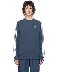 adidas Originals Pull molletonne bleu 3-Stripes