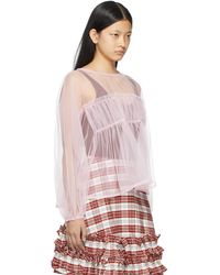 Molly Goddard Tulle Alby Blouse - Pink