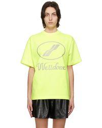 we11done Yellow Reflective Logo T-shirt